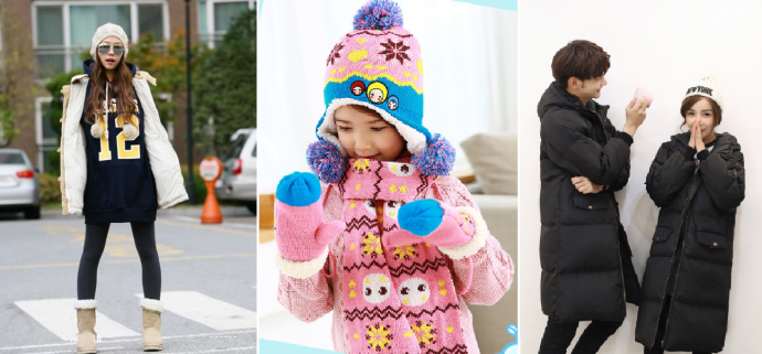 Popular winter fashion items between December and February are winter coats, sweaters, thick layers, scarves, beanies, gloves, face mask, heat pack, boots