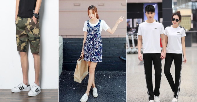 Popular early summer fashion items on June are short sleeve, shorts, light summer jacket, hat, sun glass, etc.