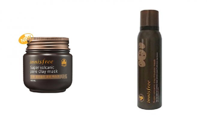 Innisfree - Jeju Volcanic Pore Clay Mask & Super Volcanic Clay Mousse Mask