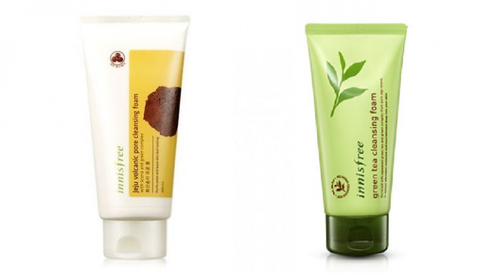 Innisfree - Jeju Volcanic Pore Cleansing Foam & Green Tea Cleansing Foam