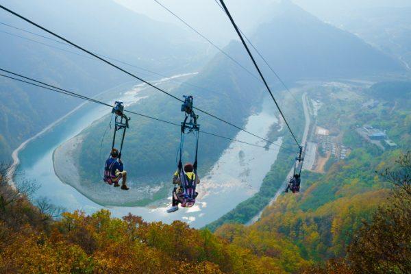 Zip Wire in Jeongseon